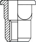Steel blind rivet nuts square body flat head